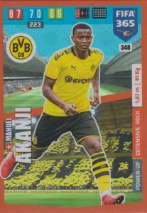 Adrenalyn XL FIFA 365 2020 - 348 Manuel Akanji  - Borussia Dortmund - Defensive Rock