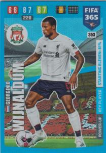 Adrenalyn XL FIFA 365 2020 - 353 Georgini Wijnaldum  - Liverpool - Key Player