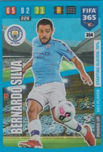 Adrenalyn XL FIFA 365 2020 - 354 Bernardo Silva  - Manchester City - Key Player