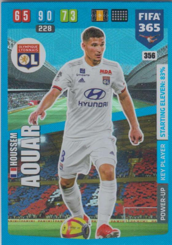 Adrenalyn XL FIFA 365 2020 - 356 Houssem Aouar  - Olympique Lyonnais - Key Player