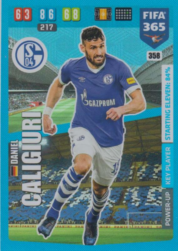 Adrenalyn XL FIFA 365 2020 - 358 Daniel Caligiuri  - FC Schalke 04 - Key Player