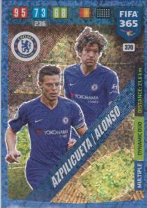 Adrenalyn XL FIFA 365 2020 - 370 Cesar Azpilicueta /  Marcus Alonso - Chelsea - Dynamic Duo