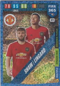 Adrenalyn XL FIFA 365 2020 - 371 Luke Shaw / Jesse Lingard - Manchester United - Dynamic Duo