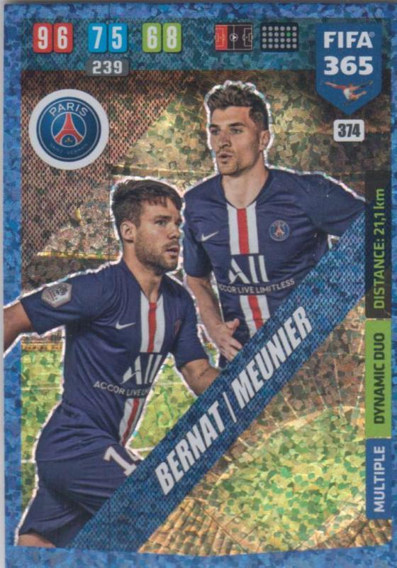 Adrenalyn XL FIFA 365 2020 - 374 Juan Bernat / Thomas Meunier - Paris Saint-Germain - Dynamic Duo