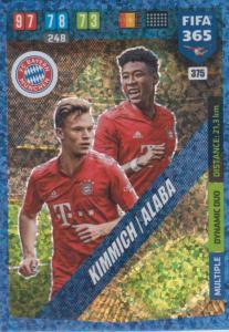 Adrenalyn XL FIFA 365 2020 - 375 Joshua Kimmich / David Alaba - FC Bayern München - Dynamic Duo