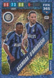 Adrenalyn XL FIFA 365 2020 - 377 Kwadwo Asamoah / Danilo D'Ambrosio - FC Internazionale Milano - Dynamic Duo