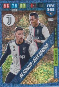 Adrenalyn XL FIFA 365 2020 - 378 Mattia De Sciglio / Alex Sandro - Juventus - Dynamic Duo