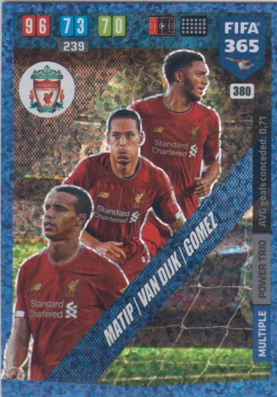 Adrenalyn XL FIFA 365 2020 - 380 Matip / van Dijk / Gomez - Liverpool - Power Trio