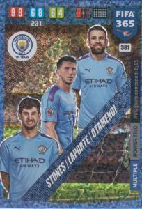 Adrenalyn XL FIFA 365 2020 - 381 Stones / Laporte / Otamendi - Manchester City - Power Trio