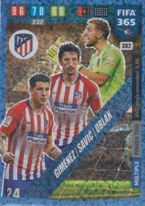 Adrenalyn XL FIFA 365 2020 - 382 Giménez /Savić /Oblak - Club Atlético de Madrid - Power Trio