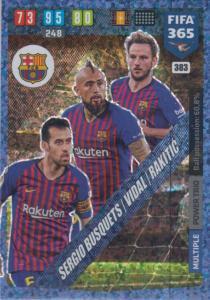 Adrenalyn XL FIFA 365 2020 - 383 Busquets / Vidal / Rakitić  - FC Barcelona - Power Trio