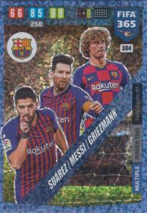 Adrenalyn XL FIFA 365 2020 - 384 Suárez / Messi / Griezmann  - FC Barcelona - Power Trio