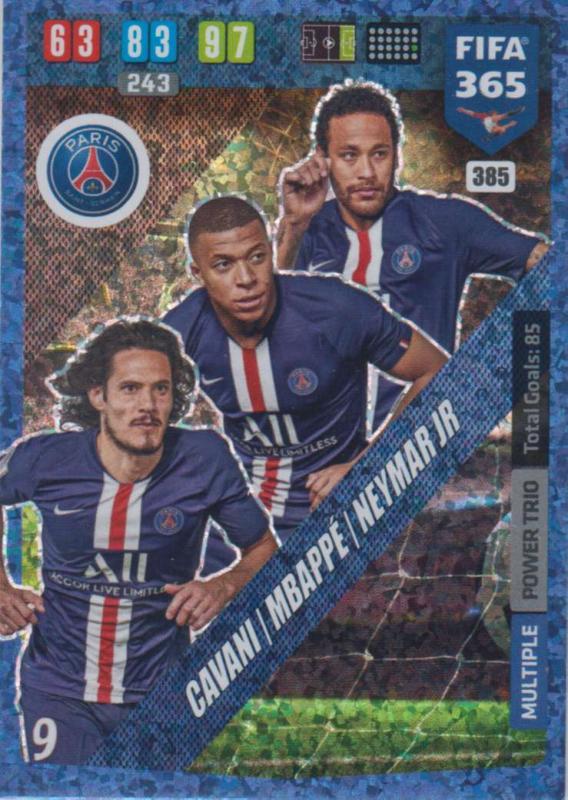 Adrenalyn XL FIFA 365 2020 - 385 Cavani / Mbappé / Neymar Jr  - Paris Saint-Germain - Power Trio