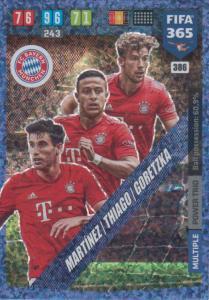 Adrenalyn XL FIFA 365 2020 - 386 Martínez / Thiago / Goretzka  - FC Bayern München - Power Trio