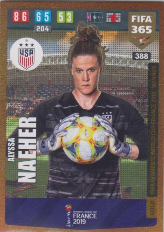 Adrenalyn XL FIFA 365 2020 - 388 Alyssa Naeher  - United States - FIFA Women's World Cup Winner