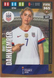Adrenalyn XL FIFA 365 2020 - 389 Abby Dahlkemper  - United States - FIFA Women's World Cup Winner