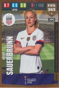 Adrenalyn XL FIFA 365 2020 - 390 Becky Sauerbrunn  - United States - FIFA Women's World Cup Winner