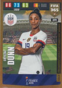 Adrenalyn XL FIFA 365 2020 - 391 Crystal Dunn  - United States - FIFA Women's World Cup Winner