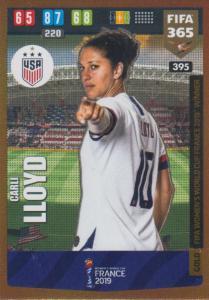 Adrenalyn XL FIFA 365 2020 - 395 Carli Lloyd  - United States - FIFA Women's World Cup Winner
