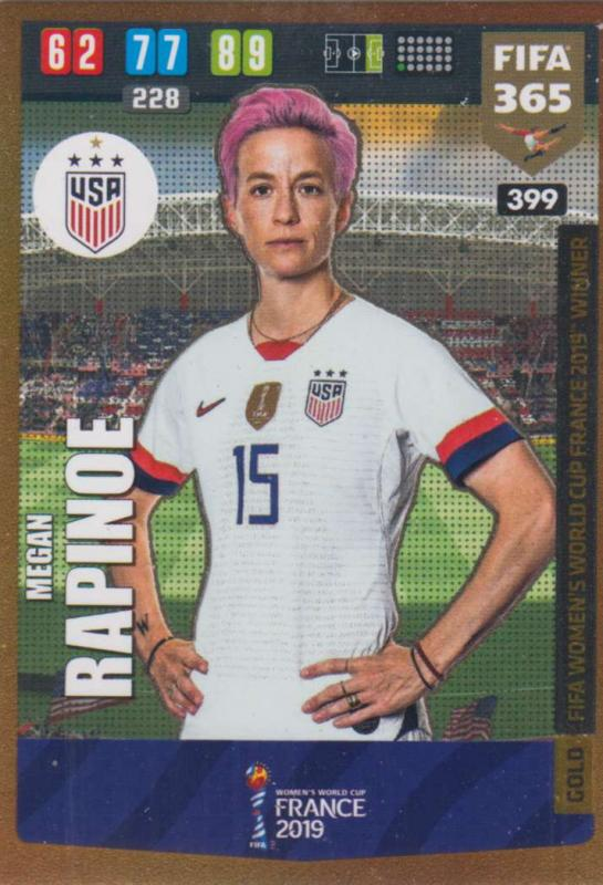 Adrenalyn XL FIFA 365 2020 - 399 Megan Rapinoe  - United States - FIFA Women's World Cup Winner