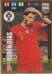 Adrenalyn XL FIFA 365 2020 - 401 Rúben Dias  - Portugal - UEFA Nations League Winner