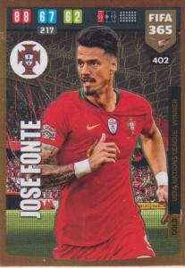 Adrenalyn XL FIFA 365 2020 - 402 Jose Fonte  - Portugal - UEFA Nations League Winner