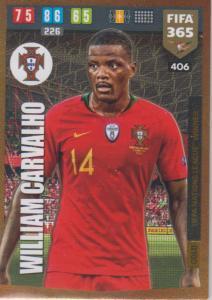 Adrenalyn XL FIFA 365 2020 - 406 William Carvalho  - Portugal - UEFA Nations League Winner
