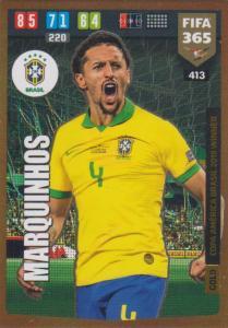 Adrenalyn XL FIFA 365 2020 - 413 Marquinhos  - Brazil - Copa America Brasil 2019 Winner