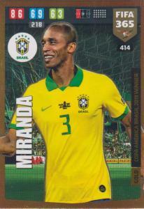 Adrenalyn XL FIFA 365 2020 - 414 Miranda  - Brasil - Copa America Brasil 2019 Winner