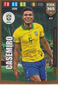 Adrenalyn XL FIFA 365 2020 - 417 Casemiro  - Brazil - Copa America Brasil 2019 Winner