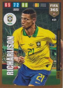 Adrenalyn XL FIFA 365 2020 - 421 Richarlison  - Brazil - Copa America Brasil 2019 Winner