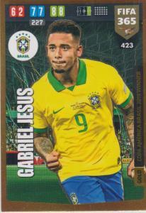 Adrenalyn XL FIFA 365 2020 - 423 Gabriel Jesus  - Brazil - Copa America Brasil 2019 Winner