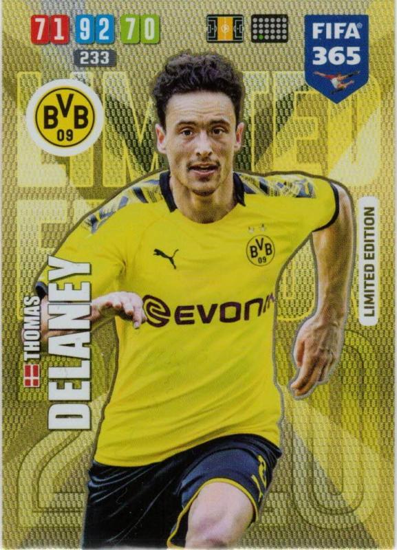 Adrenalyn XL FIFA 365 2020 - Thomas Delaney (Borussia Dortmund)  - Limited Edition