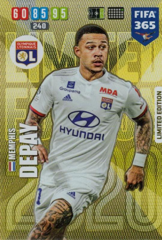 Adrenalyn XL FIFA 365 2020 - Memphis Depay (Olympique Lyonnais)  - Limited Edition