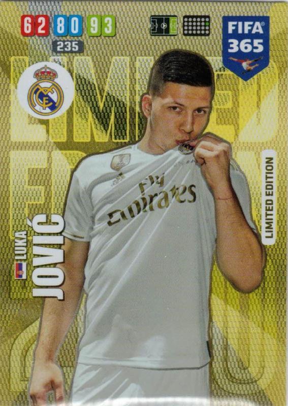 Adrenalyn XL FIFA 365 2020 - Luke Jović (Real Madrid CF)  - Limited Edition