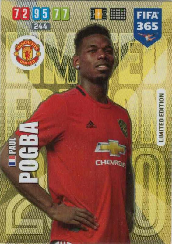 Adrenalyn XL FIFA 365 2020 - Paul Pogba (Manchester United) - Limited Edition
