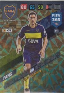 FIFA365 17-18 011 Juan Manuel Insaurralde - Fans' Favourite - Boca Juniors