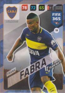 FIFA365 17-18 019 Frank Fabra - Team Mate - Boca Juniors