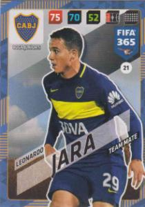 FIFA365 17-18 021 Leonardo Jara - Team Mate - Boca Juniors