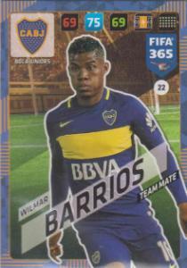 FIFA365 17-18 022 Wilmar Barrios - Team Mate - Boca Juniors