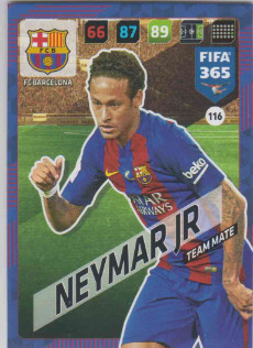 FIFA365 17-18 116 Neymar Jr - Team Mate - FC Barcelona