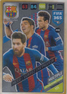 FIFA365 17-18 448 Messi, Suárez, Neymar Jr Attacking Trio FC Barcelona