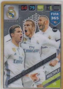 FIFA365 17-18 449 Ronaldo, Bale, Benzema Attacking Trio Real Madrid CF