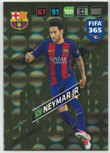 XXL FIFA365 17-18 Neymar Jr, XXL Limited Edition, FC Barcelona (Stort kort / Large card)