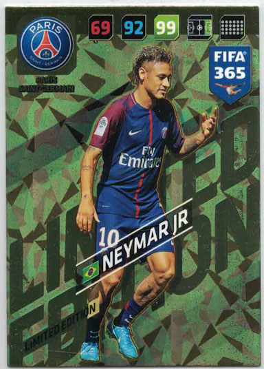 XXL FIFA365 17-18 Neymar Jr, XXL Limited Edition, Paris Saint-Germain (Stort kort / Large card)