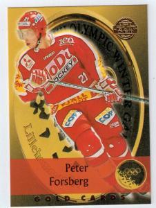 1994-95 Swedish Leaf Gold Cards #19 Peter Forsberg