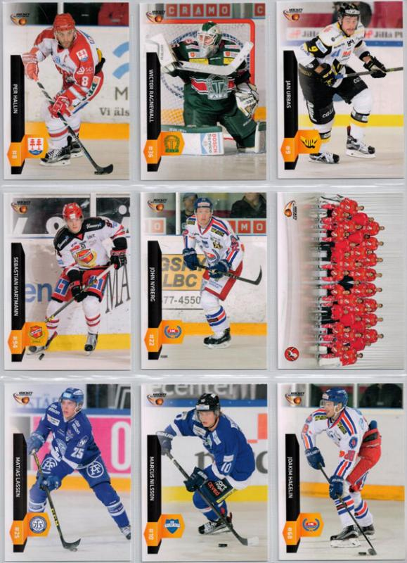 Base Set Swedish HockeyAllsvenskan 2015-16 (350 cards)