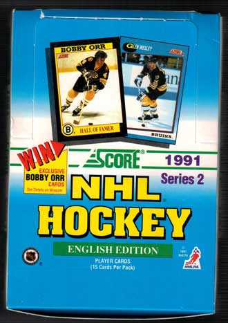 Sealed Box Box 1991-92 Score serie 2, English Edition