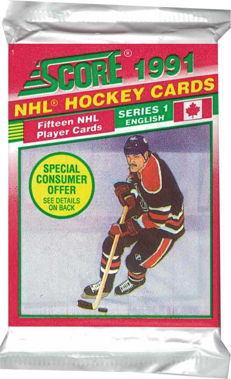 1 Pack 1991-92 Score Serie 1, English