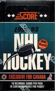 Hel Box 1992-93 Score Canadian